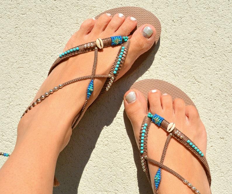 f663c1420c5ecb Sandals Boho Shoes Flip Flops Bohemian Shoes Women