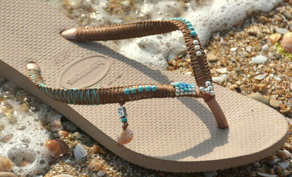 Beaded Silver Bohemian Sandals Chic Shoes Flops Hippie Sandals amp; Women Sandals Flip Sandals Flat Tuequoise Sandals Boho Sandals qX74xw