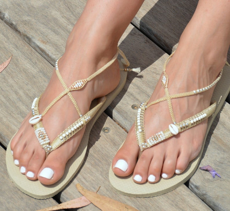 09ba5c3d0d5783 Silver   Gold Flip Flop Foot Jewelry Gold Flats Boho