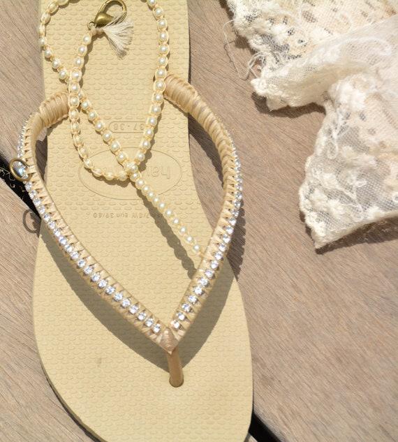 Flops Flip Flip Flops Wedding Wedding Bridesmaid Flip Boho Flop Flops Bridal Sandals Pearl Flops Sandals Flip Flip Diamond Dress Beaded wYSz0Yxq