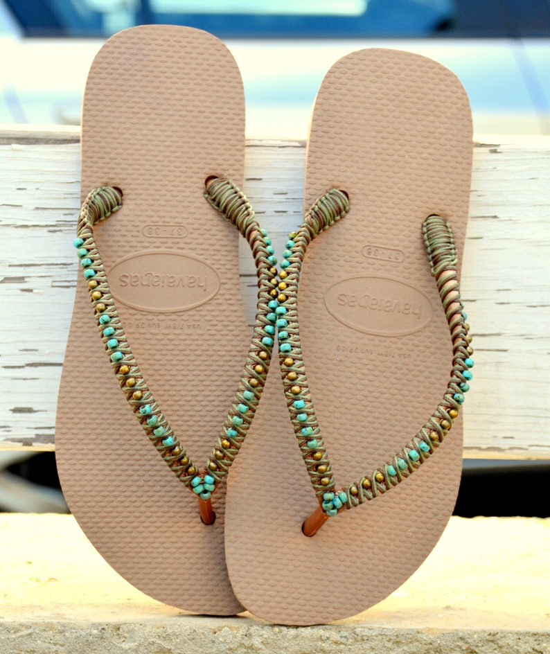 49d4fb31b64f5f Flip Flops Havaianas Hippie Sandals Beaded Flip Flops