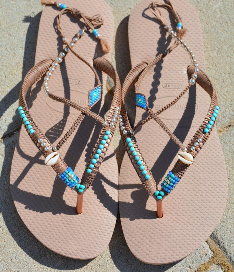c2ec7dd44135d4 Sandals Boho Sandals Flip Flops Bohemian Shoes Summer