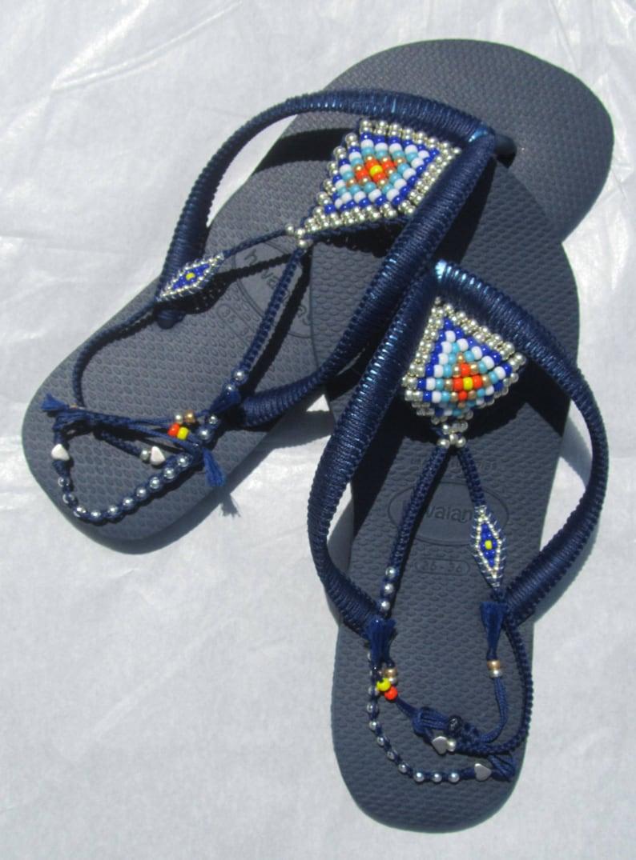 47717fb7a1ec7f Vegan Shoes Navy Blue Havaianas Women Flip Flops Bohemian