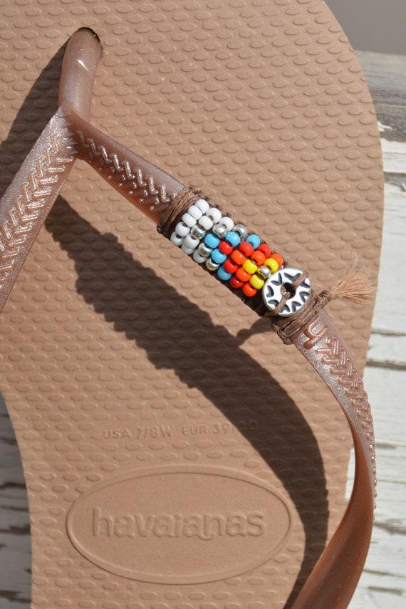Damen Flip Flops, Hippie Sandalen, Vegan Sandalen, Strand Sandalen, Strand Flip Flops, Havaianas, dekoriert Flip Flops, Perlen Flip Flops, Boho