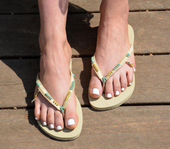 Flops Sandals Wedding Wedding Gold Bridesmaid Flops Havaianas Dress Boho Flops Wedding Flip Wedding Flip Flip Sandals Flats waq5XxWPt