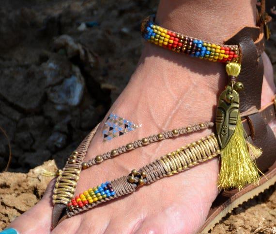 Pom Sandals Flat Sandals Leather Bohemian Sandals Sandals Sandals Sandals Sandals Gladiator Hippie Sandals Sandals Women Pom Greek rrFxnZ7awq