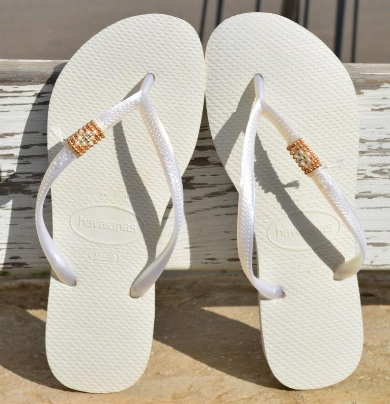 af6a09627eae Women s Flip Flops Wedding Flip Flops Bridal Flip Flops
