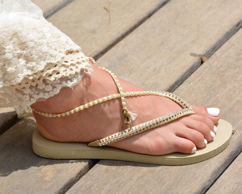 9694ceabc4d9 Bridal Flip Flops Wedding Flip Flops Bridesmaid Flip Flops