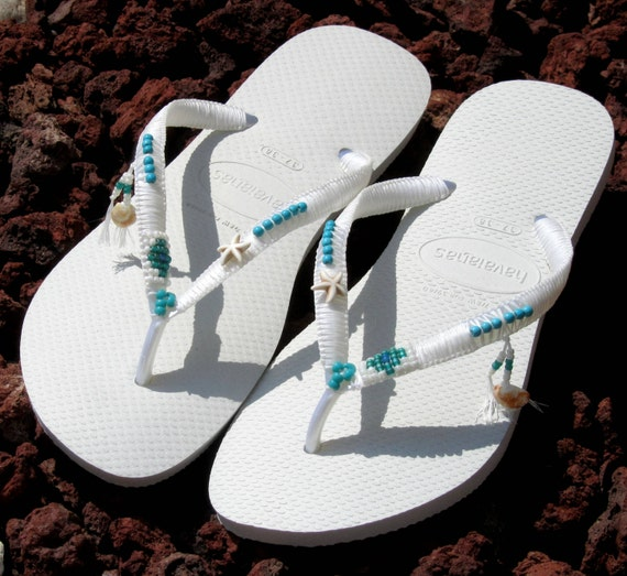 Comfortable Flops Boho Dress Wedding Beaded White Boho Women's Thong Sandals Silver Shoe Flip Wedding amp; Sandals Havaianas Turquoise Flats z0ATaW1q