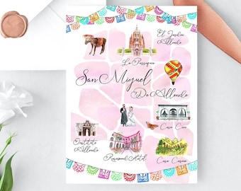 Custom Wedding Map Etsy