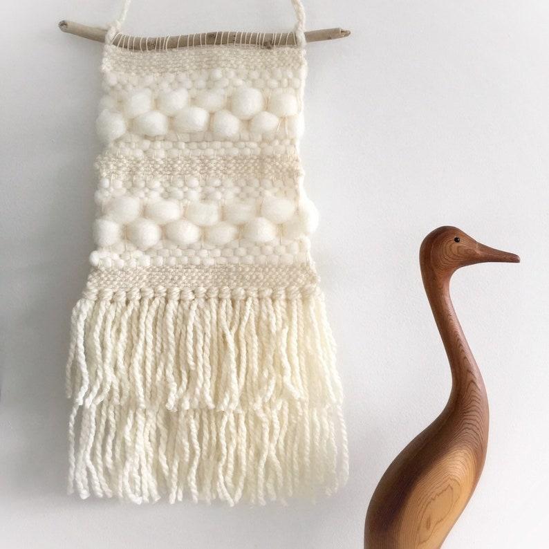 Handwoven Tapestry  Weaving Wall Decor  Fiber Art Nursery image 0