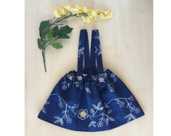 Denim Suspender Skirt for baby girls, baby skirt, Suspender skirt, birthday outfit