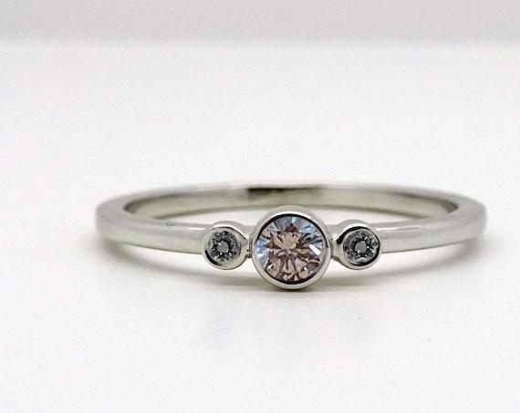 Three Stone Diamond Ring | Engagement Ring | Gift for women