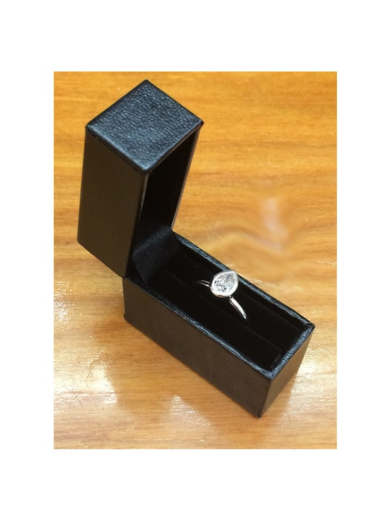 Small Black Pocketable Ring Box