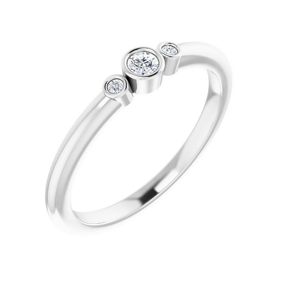 Three Stone Diamond Ring | Engagement Ring | Gift for women