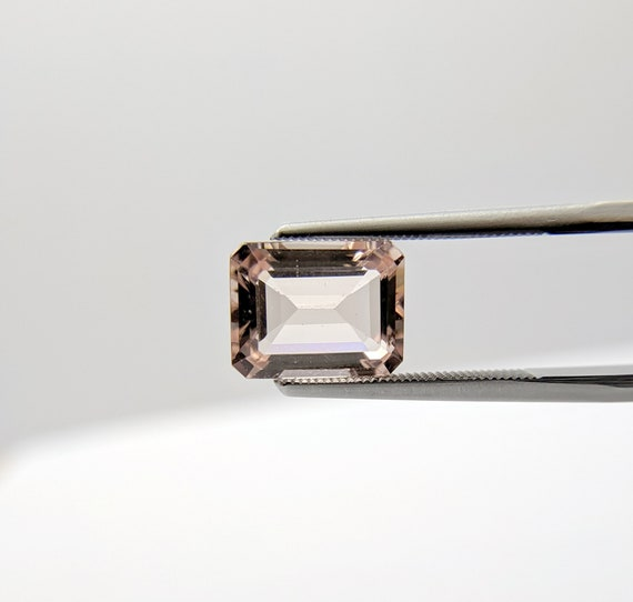 2 Ct. 9X7mm Octagon Morganite Pink Certified Natural Gemstone
