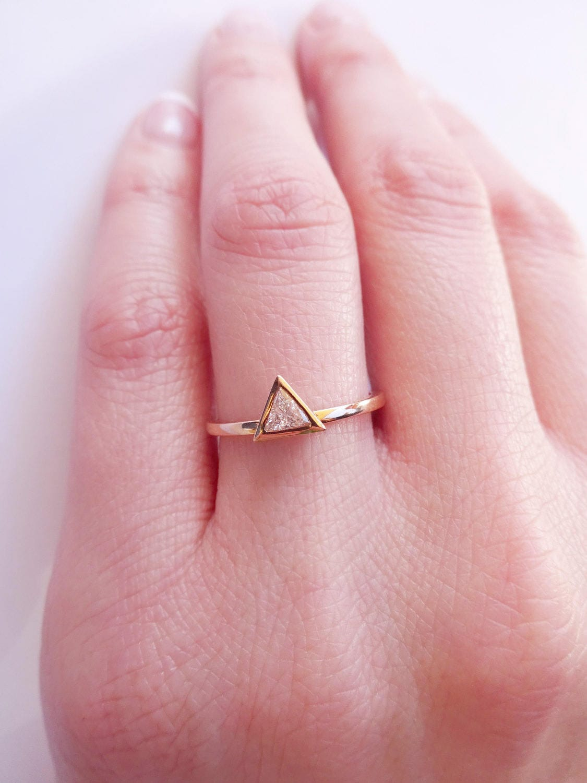 0.20 carat Trillion Diamond Solitaire Ring - Triangle Diamond ...