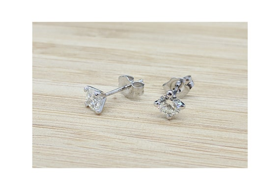 Diamond Earstuds Bridal Earrings Delicate Natural Diamond Dainty Martini Diamond Earstuds Rose Gold Stud Earrings
