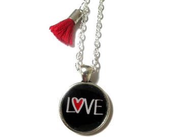 CHILD NECKLACE - Kid Necklace - Girl Necklace - Love Heart Necklace - Junior Bridesmaids - Kids Jewelry