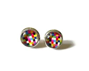 KIDS COLORFUL EARRINGS - Kids Stud Earrings - Girls Earrings - Earrings for Children - Gift for Girls - Child Jewelry