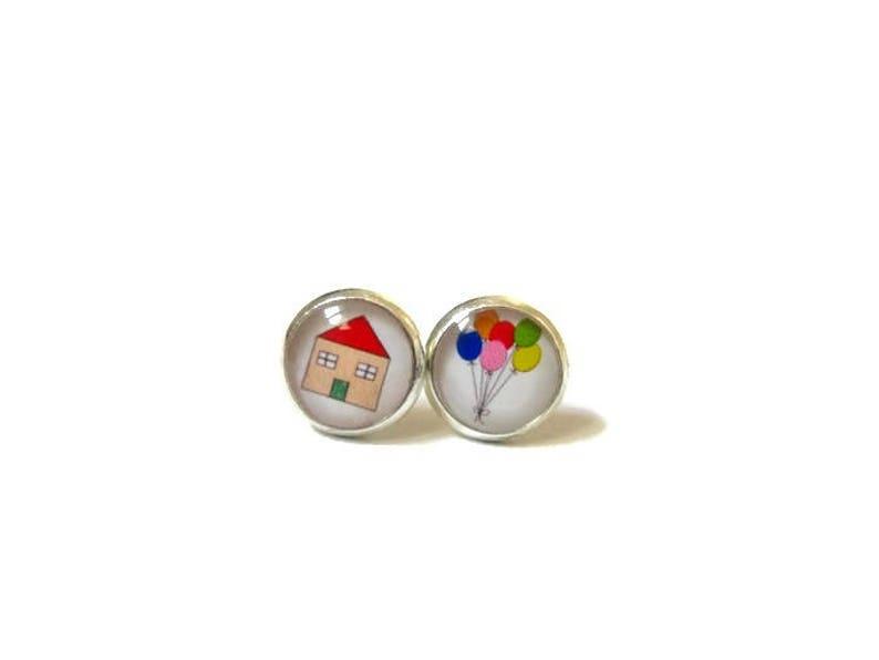 Flying House Earrings  for kids image 0