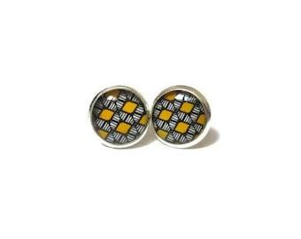 YELLOW SUMMER EARRINGS - Bright earrings - summer outdoors -Teen girl - gift for sister - summer jewelry - Boho earrings - kids jewelry