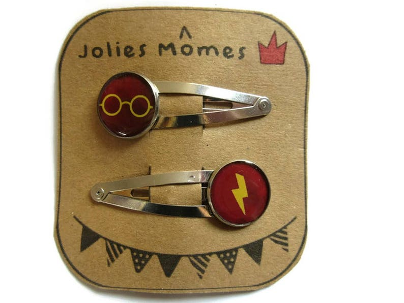 2 Harry Potter HAIR CLIP  Hogwarts hair accessories  Harry image 1
