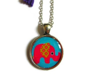 ELEPHANT NECKLACE - Little Girl Necklace - Pink Elephant Necklace - Girls Gift - Kids Jewelry - Necklace for Her