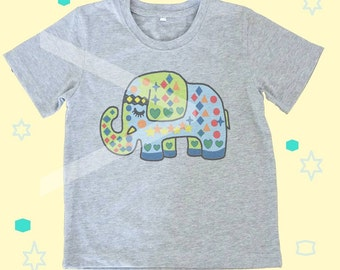 Kids shirt elephant Toddlers tshirts kids clothes