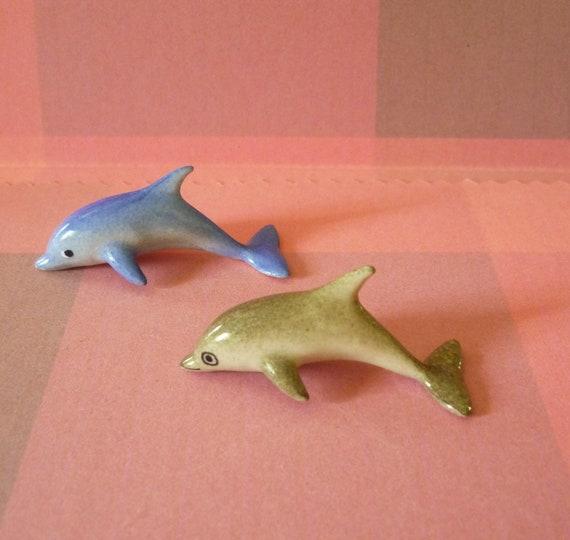 10 Pcs Mini Dolphin Fish Clay Animal Dollhouse Miniature Figurine 1 12 Handmade