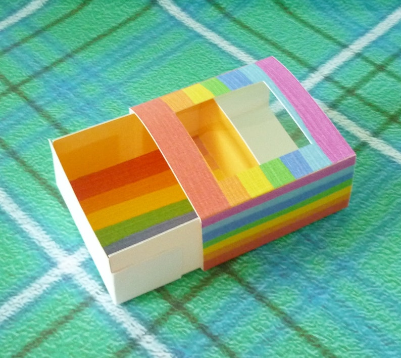 sliding box rainbow colorful gifts boxes Favors boxes Mini paper box paper box with lid packaging small box favors