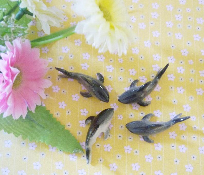 Miniature shark fish 50 pcs gray blue wholesale figurine ceramic Party  favors- Wedding favors for guests -bulk gift ideas