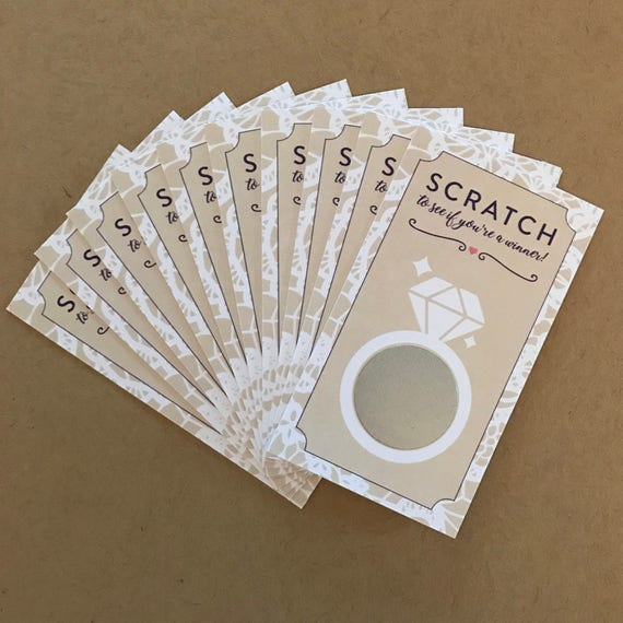 lace bridal shower scratch off cards set of 24 cards