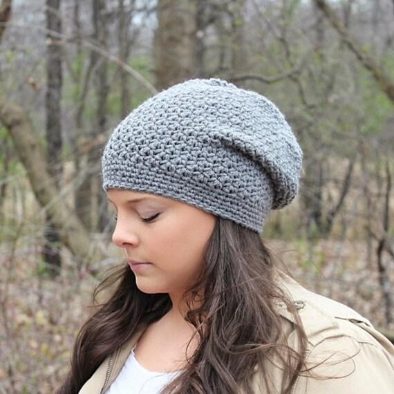 Grey Slouchy Hat Grey Slouchy Beanie Grey Beanie Grey Hat  5c6c01b3a67
