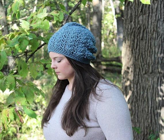 Blue Slouchy Hat Blue Slouchy Beanie Blue Beanie Blue Hat  bf9b326b181
