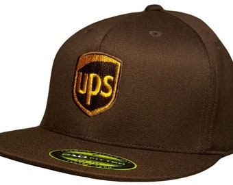 ab0059f96a9 UPS Flexfit Hat BROWN Flatbill ProStyle Available S M or L XL 6210 Flexfit  Cap
