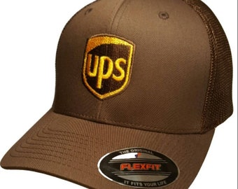 862266ce8be UPS Embroidered Trucker Mesh FlexFit Baseball Cap 6511