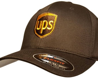 88e163a73b1 UPS Embroidered Flexfit Baseball Hat 6277 Flexfit S M or L XL