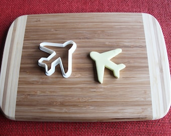 Airplane Cookie Cutter Biscuit Stamp Cake Topper Fondant cutter cupcake topper