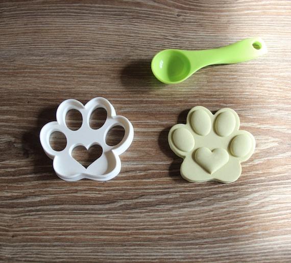 Hund Print Paw Mit Herz In Der Mitte Cookie Cutter Hund Welpen Etsy