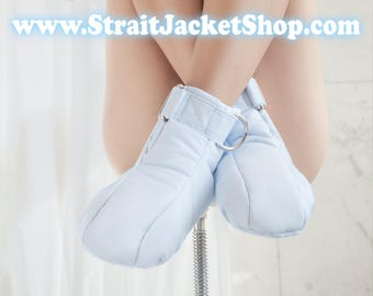 Blue Restraining Booties - Soft Padded Booties For Little One / ABDL / Adult Baby Diaper Lover / Bondage / Baby Blue