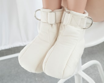 Asylum Restraining Booties - Soft Padded Booties For Asylum Patient / Medical / Bondage / Institutional / Padded Cell