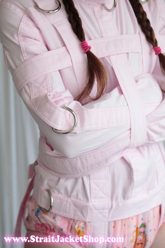 ABDL rosa camisa de fuerza camisa de fuerza para un poco de | Etsy