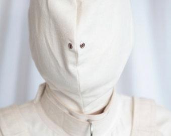 Bondage Straitjacket Hood / Mask / Blindfold / Asylum / Institutional