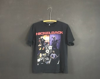 6f3ff300 Nickelback Band shirt early 00s soft tour tee canadian artist