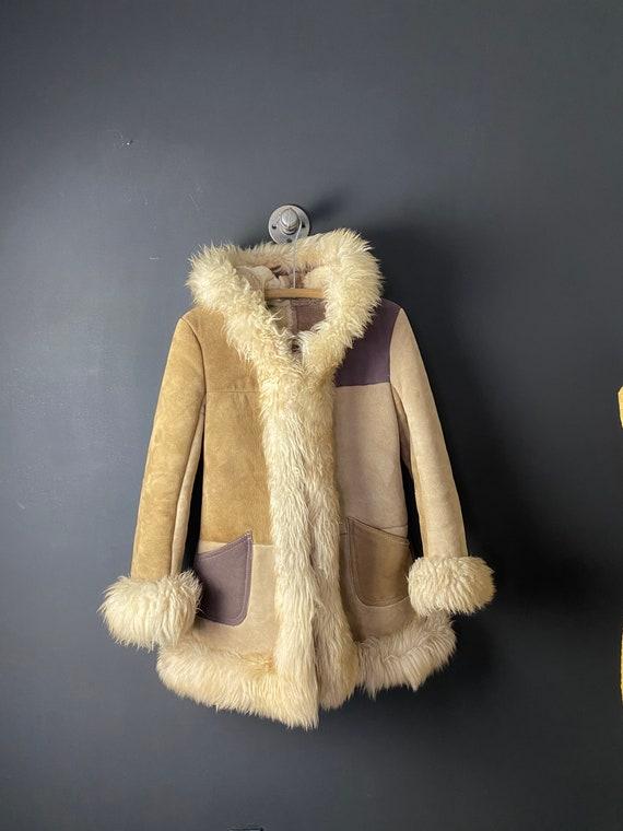 Vintage penny lane coat 60s 70s reversible warm wi