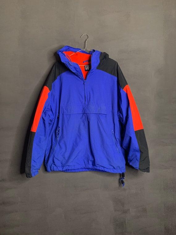 vintage 90s gap pullover fleece jacket