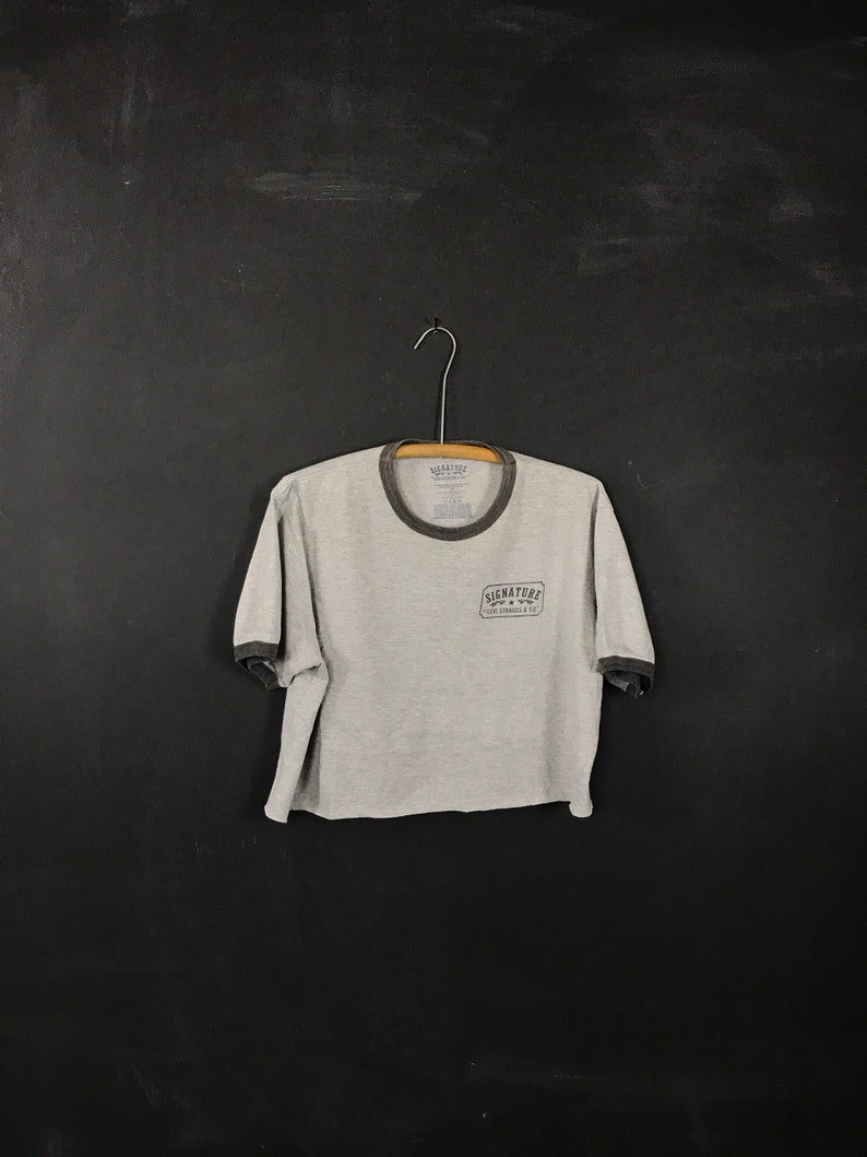 bcb5c804c43d6a Levis cropped ringer t shirt reworked upcycled tee old school