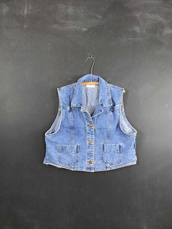Vintage 80s denim vest french dressing jean