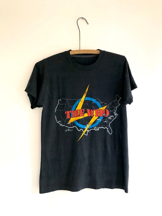 The Who paper thin 1980s American Tour band tee